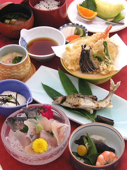 川魚と天麩羅コース